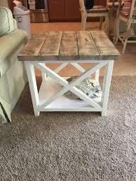 custom rustic farmhouse end table