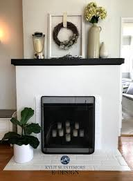 brick fireplace painted ballet white