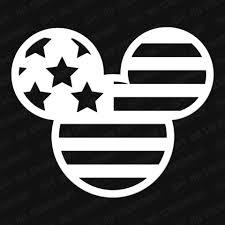 Mickey Head American Flag Vinyl Decal The Stickermart
