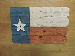 Amazon Com Texas Flag 5 Recycled Fence Wood With Distressed Paint With Picket Fence Edge Handmade