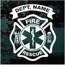 Maltese Cross Fire Department Decals Stickers Decal Junky