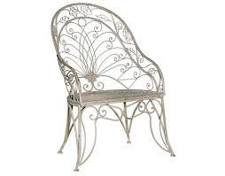 grey metal high back garden chair