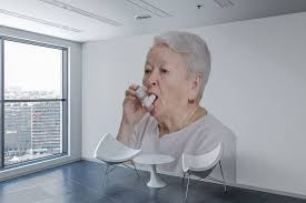 Old Woman With Inhaler Wall Sticker If You Miss Your Grandma