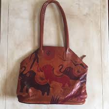bags vintage leather indian purse