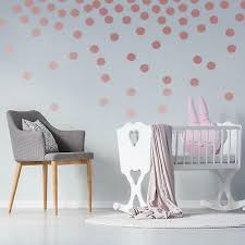 200 Metallic Rose Gold Polka Dot Wall Stickers Removable Wall Decal Decoration Wall Decals Stickers Home Furniture Diy Cientificafest Cientifica Edu Pe