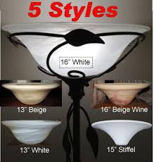 dish glass torchiere lamp shade example