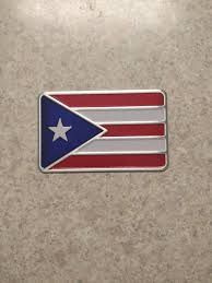 Puerto Rican Flag Car Metal Sticker Free Shipping Etsy