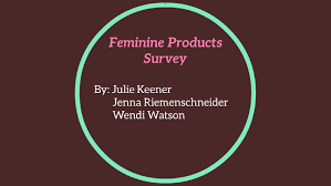 Feminine Products Survey by Jenna Riemenschneider