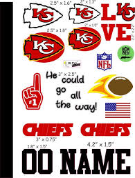Kansas City Chiefs Cranial Band Decoration From High Quality Vinyl For Baby Helmets