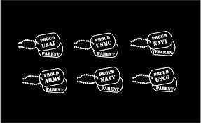 Military Dog Tags Personalized Decal Custom Vinyl Car Truck Window Sticker In 2020 Truck Window Stickers Custom Vinyl Window Stickers