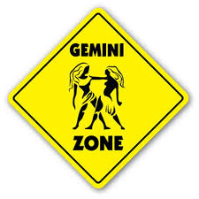 Gemini Zone 3 Pack Of Vinyl Decal Stickers Indoor Outdoor Funny Decoration For Laptop Car Garage Bedroom Offices Signmission Walmart Com Walmart Com