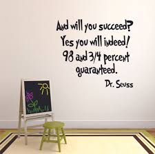 And You Will Succeed Dr Seuss Customized Wall Decal Custom Vinyl Wall Art Personalized Name Baby Girls Boys Kids Bedroom Wall Decal Room Decor Wall Stickers Decoration Size 30x30