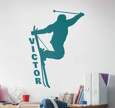 Customizable Skier Wall Sticker Tenstickers