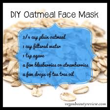 diy oatmeal face mask vegan beauty