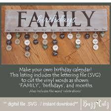 svg family birthday calendar birthday
