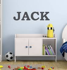 Amazon Com Boys Name Wall Decal Nursery Baby Boys Bold Font Childrens Decals Personalized Wall Decal Kids Room Decals Playroom Decals Au37 Arts Crafts Sewing