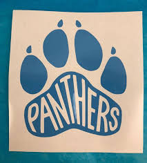 Carolina Panthers Paw Print Blue Vinyl Decal For Cars Windows Electronics Etc Great Gift For A Panthers Fan Ap Vinyl Decals Blue Vinyl Carolina Panthers