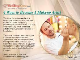 ppt 4 ways to bee a makeup artist