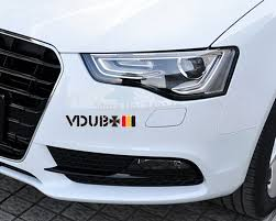 Aliauto Car Accessories Vdub Cross Germany Flag Reflective Car Stickers And Decals For Audi Volkswagen Golfgti Sagitar Scirocco Car Sticker Car Stickers And Decalsreflective Car Sticker Aliexpress