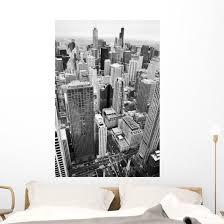 Urban City Architecture Background Chicago Wall Decal Wallmonkeys Com