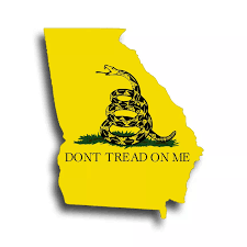 Dont Tread On Me Georgia State Flag Sticker Ga Cup Car Window Bumper Don T Decal Decals Stickers Aliexpress
