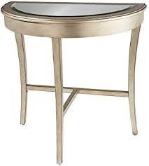 com hall table beveled half