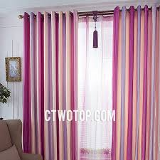 Organic Best Kids Room Pink Lavender And Rose Red Striped Curtains