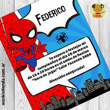 Spiderman Invitacion Whatsapp