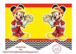 Mama Decoradora Kit Imprimible Mickey Sobre Ruedas Gratis