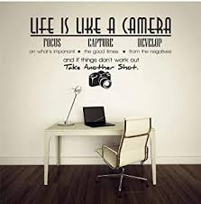 Amazon Com Blondee S Inspirational Quote Wall Decal Life Is Like A Camera Focus Capture Develop Wall Sticker Baby