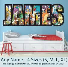 Childrens Name Wall Stickers Art Personalised Pokemon For Boys Girls Bedroom Ebay