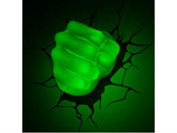 Marvel Comics 3d Led Wall Decal Hulk Fist