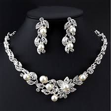 imitation pearl jewelry sets search