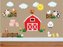 Farm Animal Wall Decals Kids Wall Stickers Peel Andstick Etsy In 2020 Farm Animal Nursery Decor Animal Kids Room Kids Wall Decals