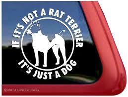 Decker Rat Terrier Dog Decals Stickers Nickerstickers
