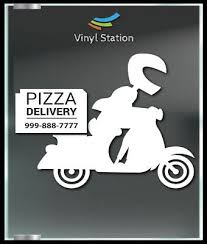 Pizza Delivery Restaurant Shop Decal Sign Business Store Vinyl Window Decal Ebay