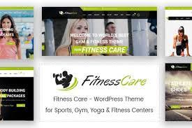 fitness care gym wordpress theme