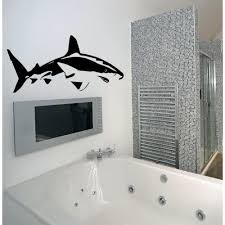 Shop Shark Ocean Wall Decal Vinyl Stickers Decals Animal Wall Vinyl Sticker Decal Size 33x45 Color Black Free Shipping Today Overstock 13667104