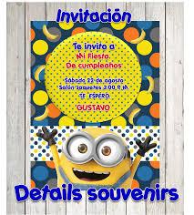 Invitaciones De Minions Diseno Y Creacion De Invitaion De Fiestas