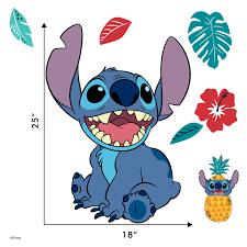 Disney Lilo And Stitch Wall Decal Stitch Wall Decals With 3d Augmented Reality Interaction Lilo Stitch Bedroom Decor Walmart Com Walmart Com