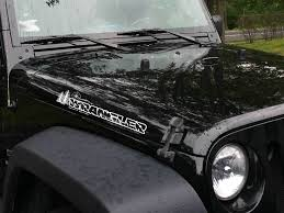 Product Pair Jeep Wrangler Unlimited Compass Mountains Tree Vinyl Hood Decals