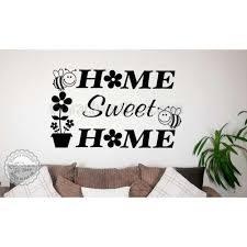 home sweet home wall art sticker quote vinyl decor decal