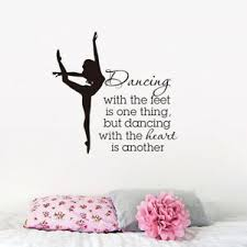 Dance With Heart Quote Wall Stickers Home Decor Girls Room Ballet Dancer Decals Ebay
