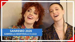 SANREMO 2020 - GABRIELLA MARTINELLI E LULA - YouTube