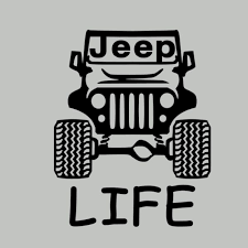 Jeep Life Decal Sticker Jeep Life Car Window Truck Laptop Sticker Car Decal Jeep Life Decal Life Car Car Decals