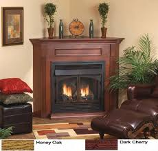 corner gas fireplace ventless