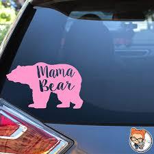 Amazon Com Mama Bear Vinyl Die Cut Decal Sticker For Car Laptop Etc Handmade