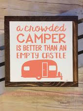 Crowded Camper Vinyl Lettering Decals Wall Art Stickers Rv Accessories New Decorating Ideas