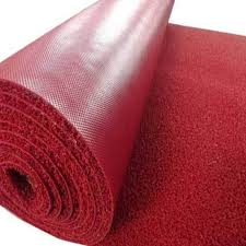 red plain pvc carpet mat rs 40 square