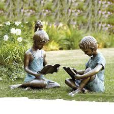 bronze children sculpture